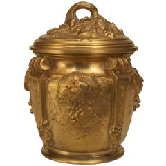 Turn of the Century French Art Nouveau Gilt Bronze Box by Marionnet