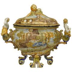 19th c. Italian Renaissance Revival Majolica Tureen