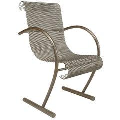 "1960s Japanese ""Sing Sing"" Steel Mesh Armchair by Shiro Kuramata"