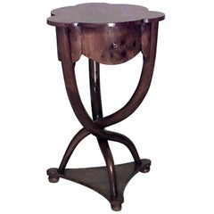 1940's Italian Modernist Burl Walnut End Table