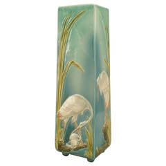 Turn of the Century French Sarreguemines Vase