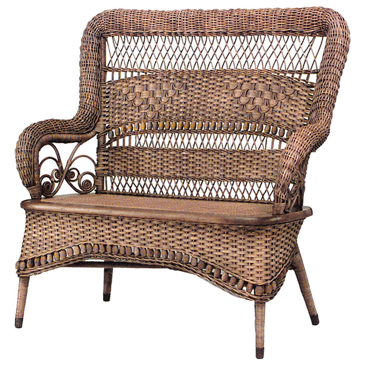 american natural wicker loveseat by larkin u0026 co