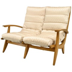 1950's French Beechwood Salon Set Attributed to Rene Melin