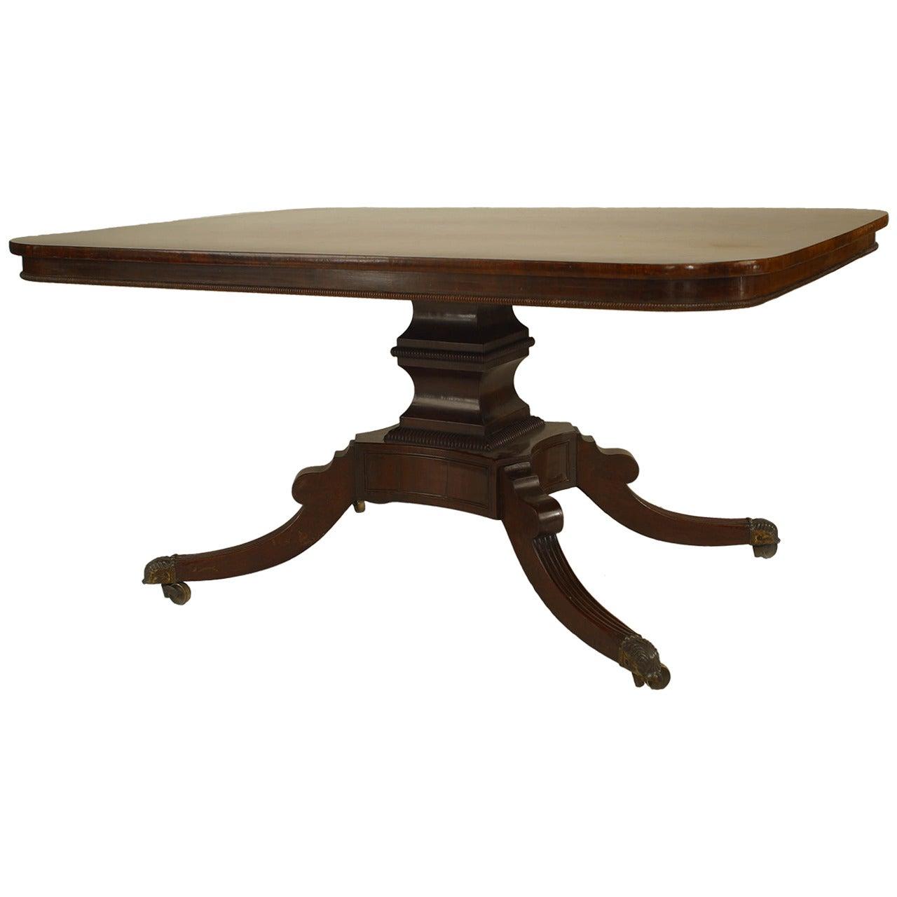 English Sheraton Mahogany Dining Table