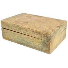Small English Art Deco Shagreen Box