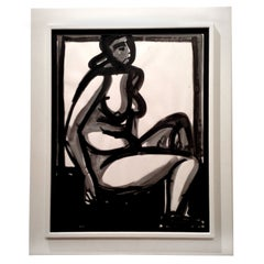 Framed Nude by American Michael Loew, 1968
