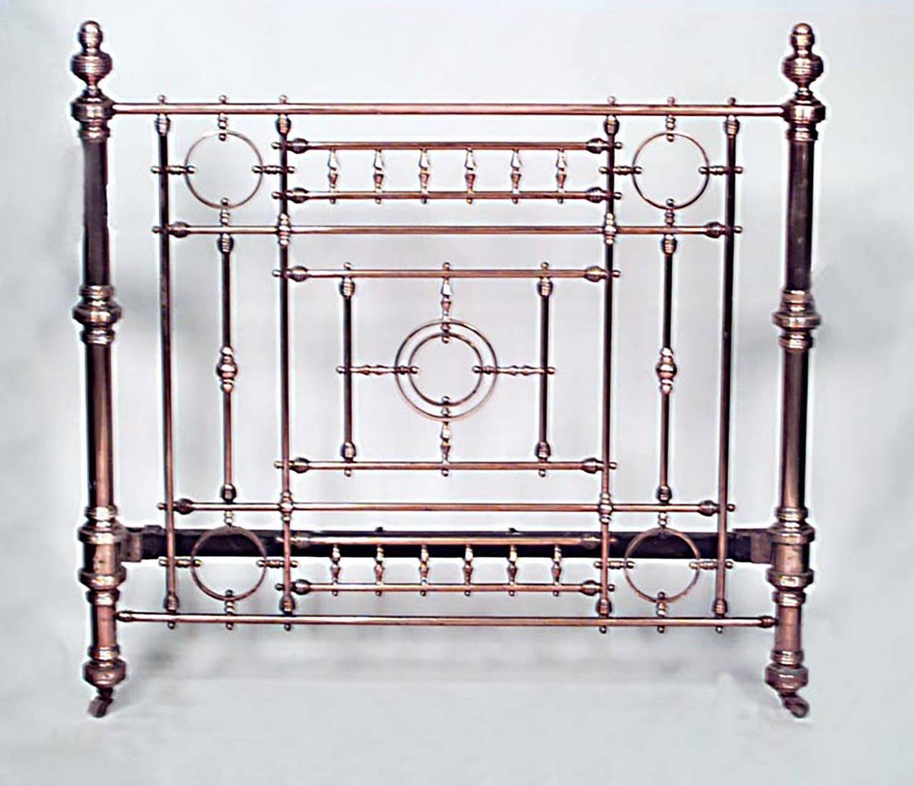 brass bed frame full