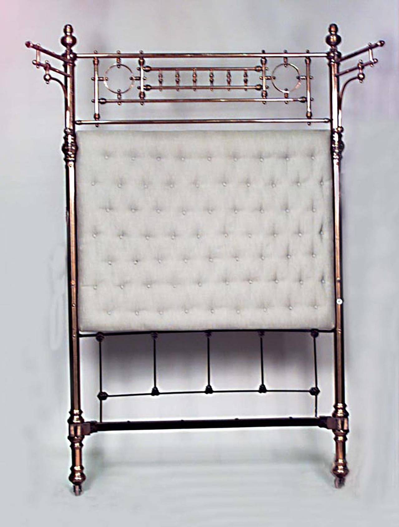 Dramatic 19th century american full sized brass bed for for Dramatic beds