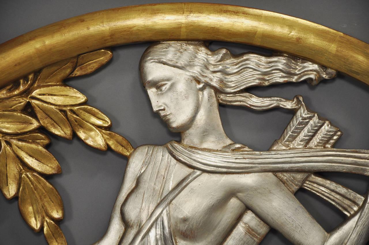 American Important Art Deco Mythological Gilt Wall Plaque For Sale & Important Art Deco Mythological Gilt Wall Plaque For Sale at 1stdibs