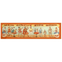 Monumental 1940s Americana Painted Circus Banner by O. Henry Tent & Awning