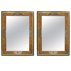 Two(2) 20th c. Italian Eglomise Wall Mirrors
