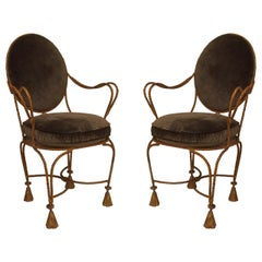Pair of Rope and Tassel Gilt Armchairs