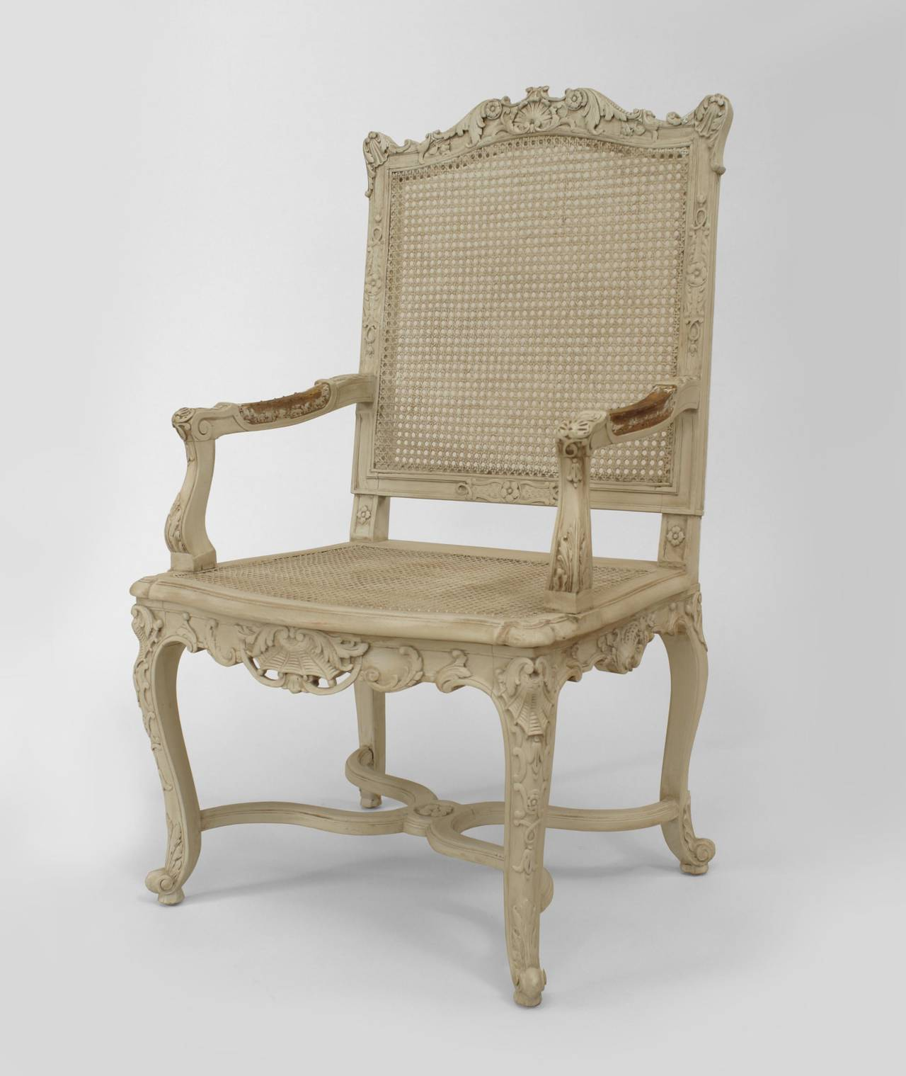 Set Of Ten French Regence Style White Painted Chairs For Sale At 1stdibs