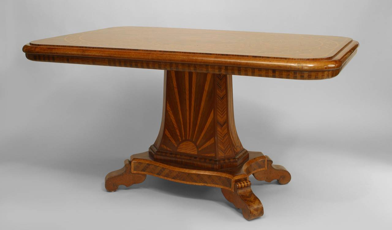 19th century continental german inlaid center table circa for Furniture 1825