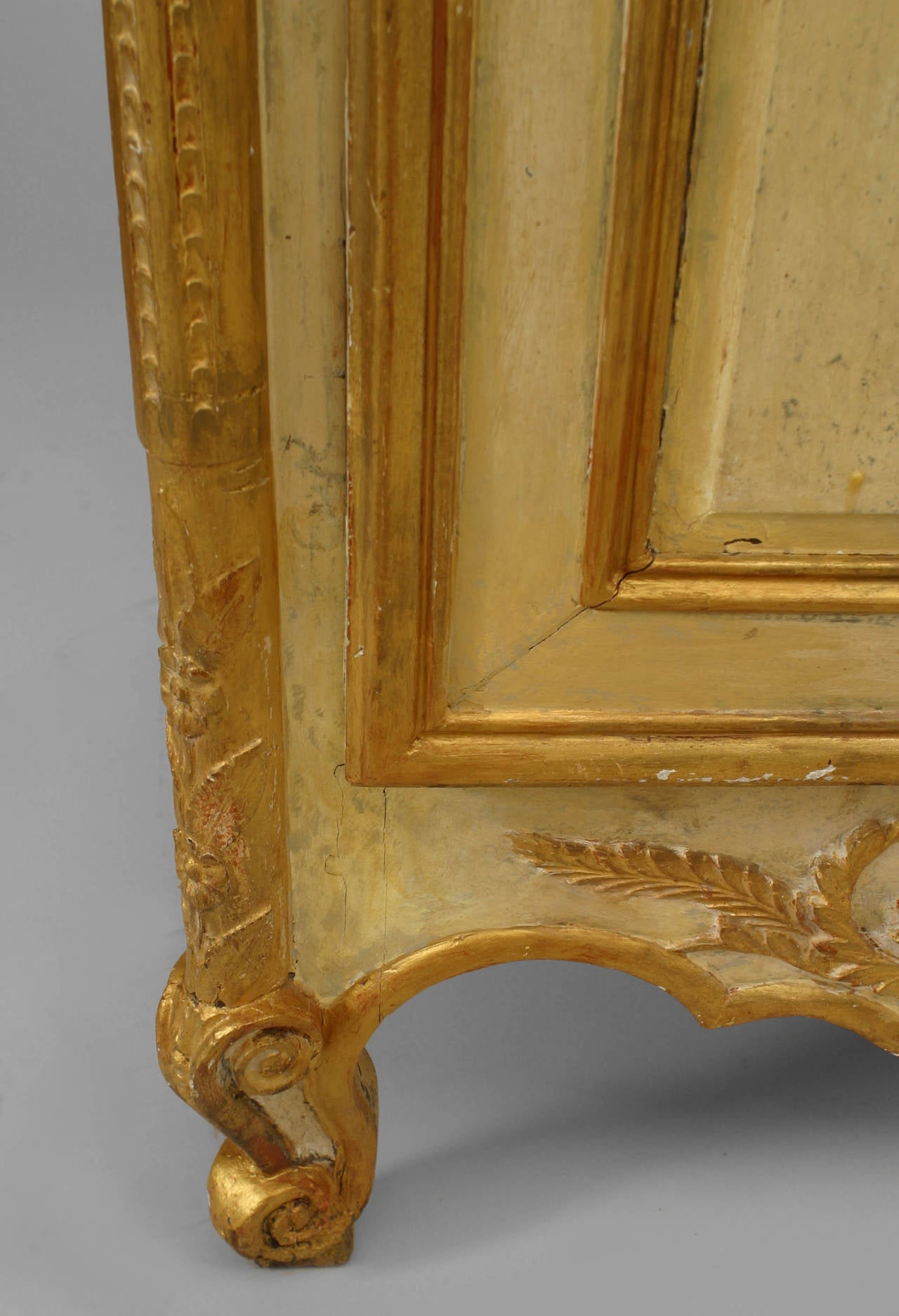 18th Century Late 18th or Early 19th Century Italian Gilt-Trimmed Commode For Sale