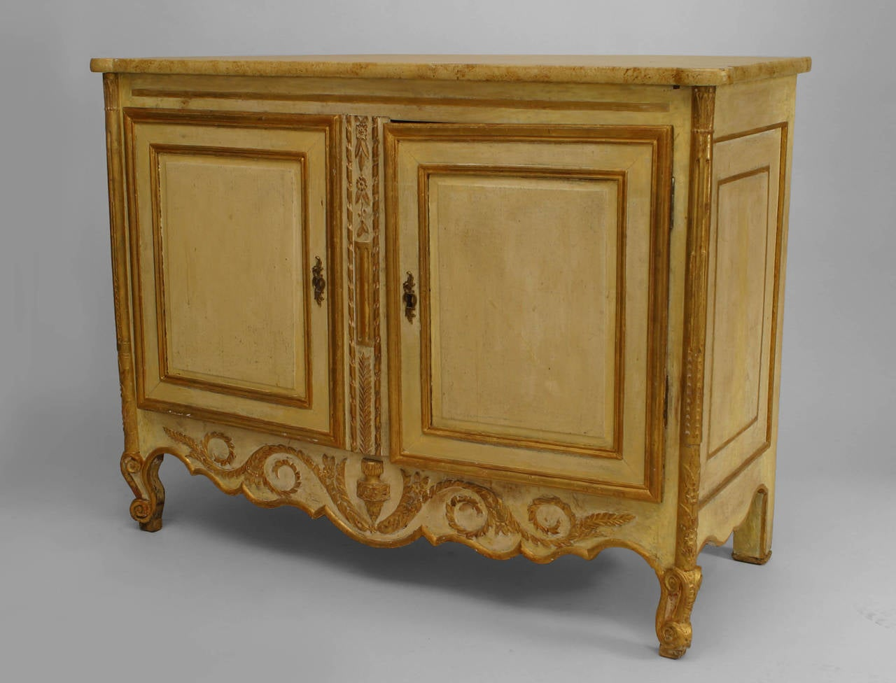 Neoclassical Late 18th or Early 19th Century Italian Gilt-Trimmed Commode For Sale