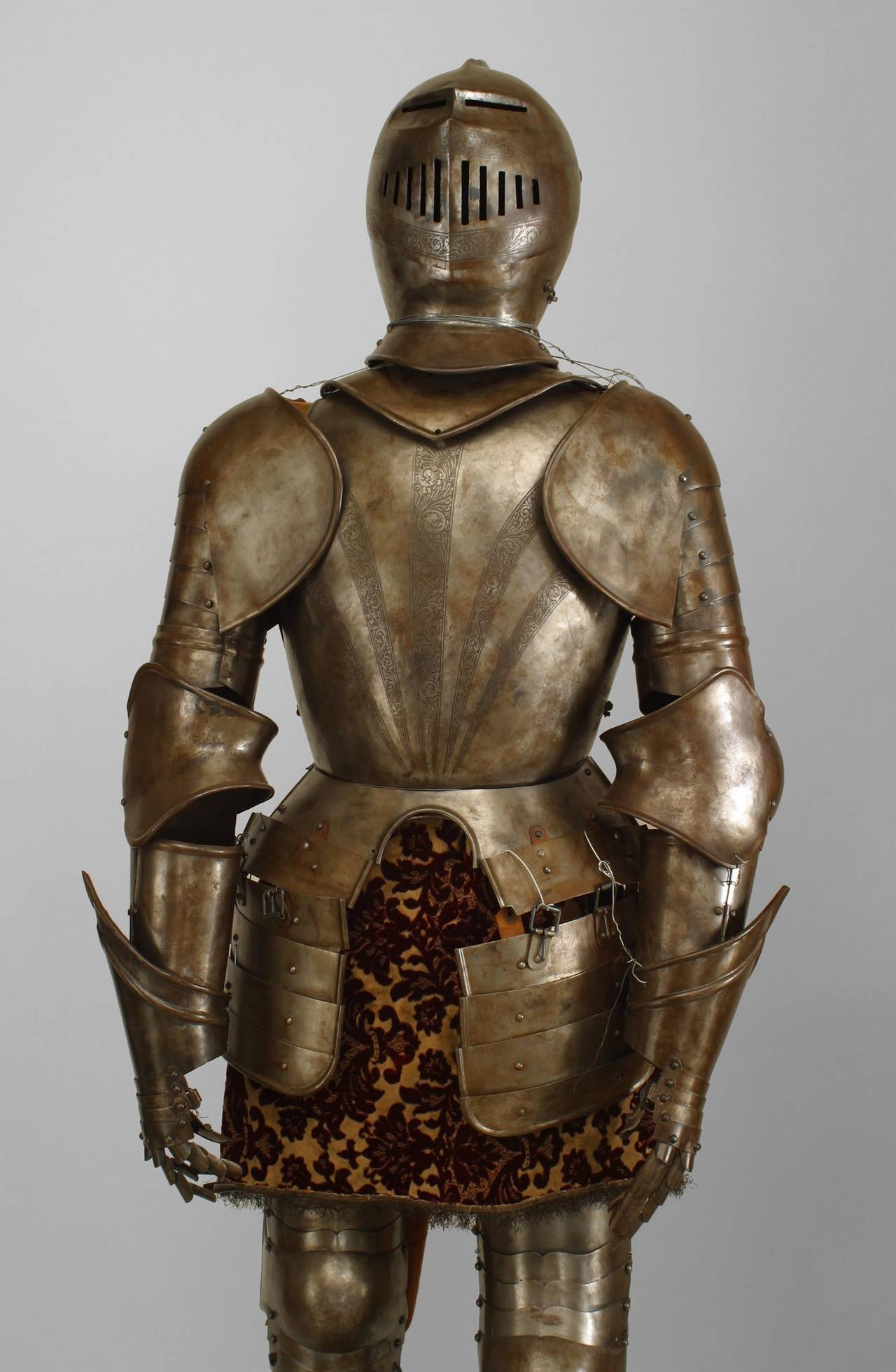 Italian Renaissance Style Etched Suit of Armor For Sale at