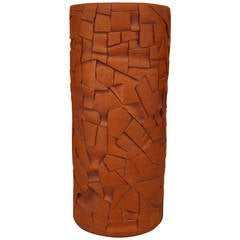 Contemporary American Terra Cotta Vase, by Robert Bentley