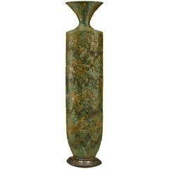 Contemporary American Textured Ceramic Vase by Gary Dipasquale