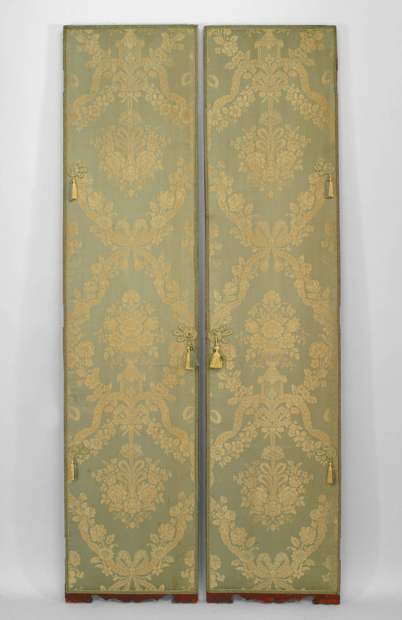 Large Pair of Chinese Carved and Lacquer Frame Doors In Good Condition For Sale In New York, NY