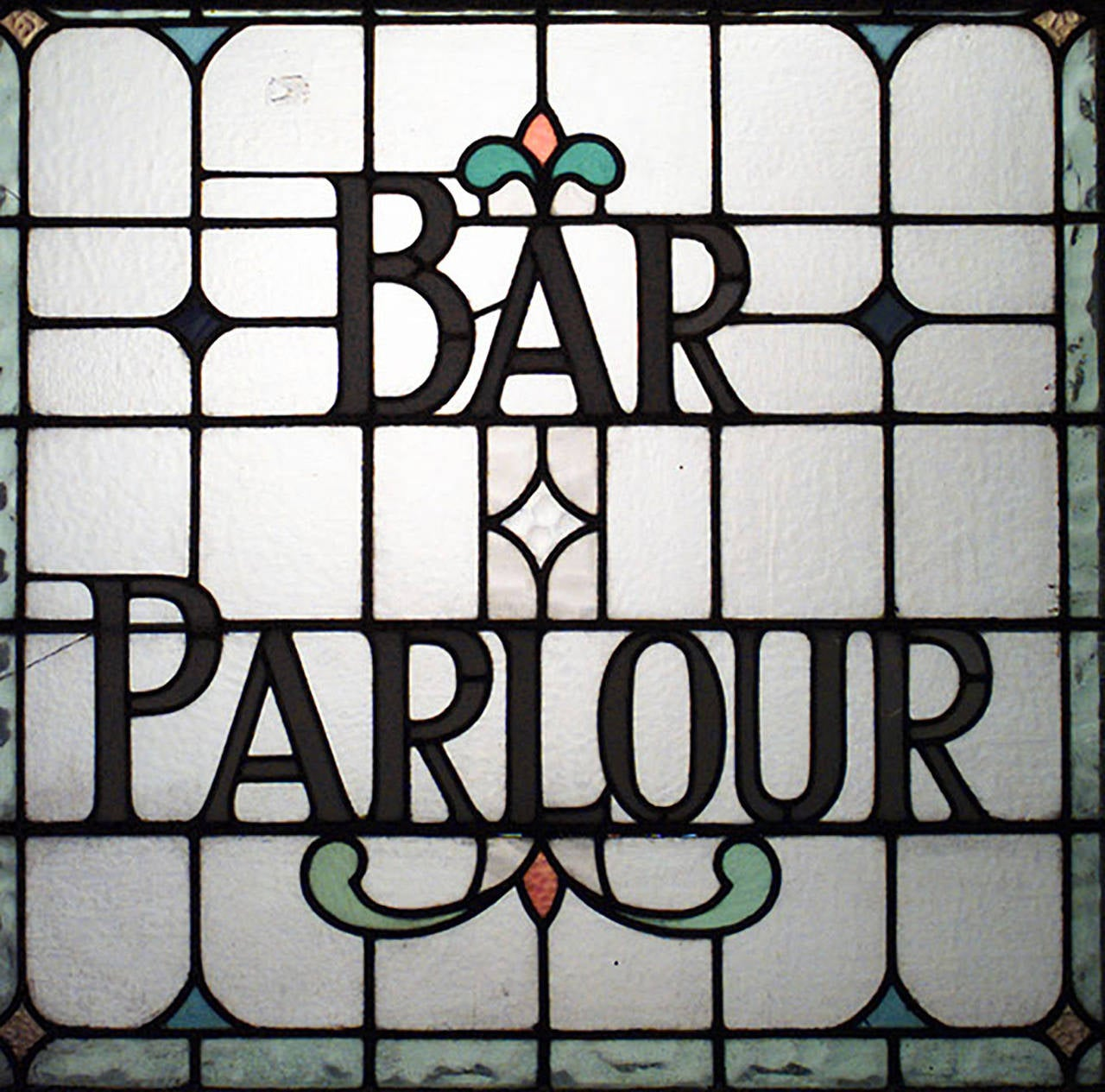 British Three English, Victorian Leaded Glass Pub Signs For Sale