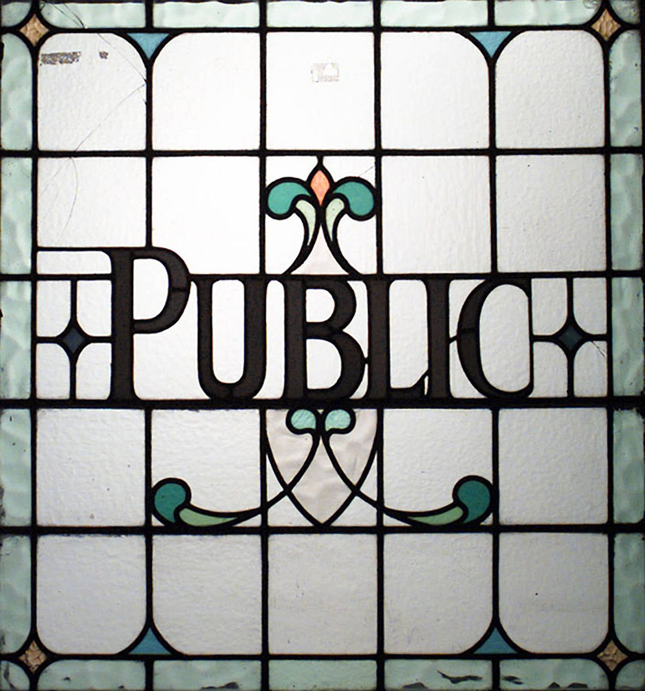 Three English, Victorian Leaded Glass Pub Signs In Good Condition For Sale In New York, NY