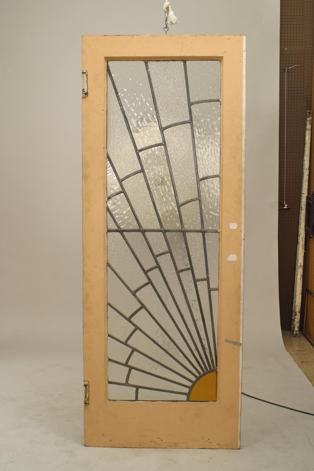 1536 #8C693F This Pair Of French Art Deco Leaded Glass Sunburst Doors Is No Longer  pic Leaded Glass Interior French Doors 32511024