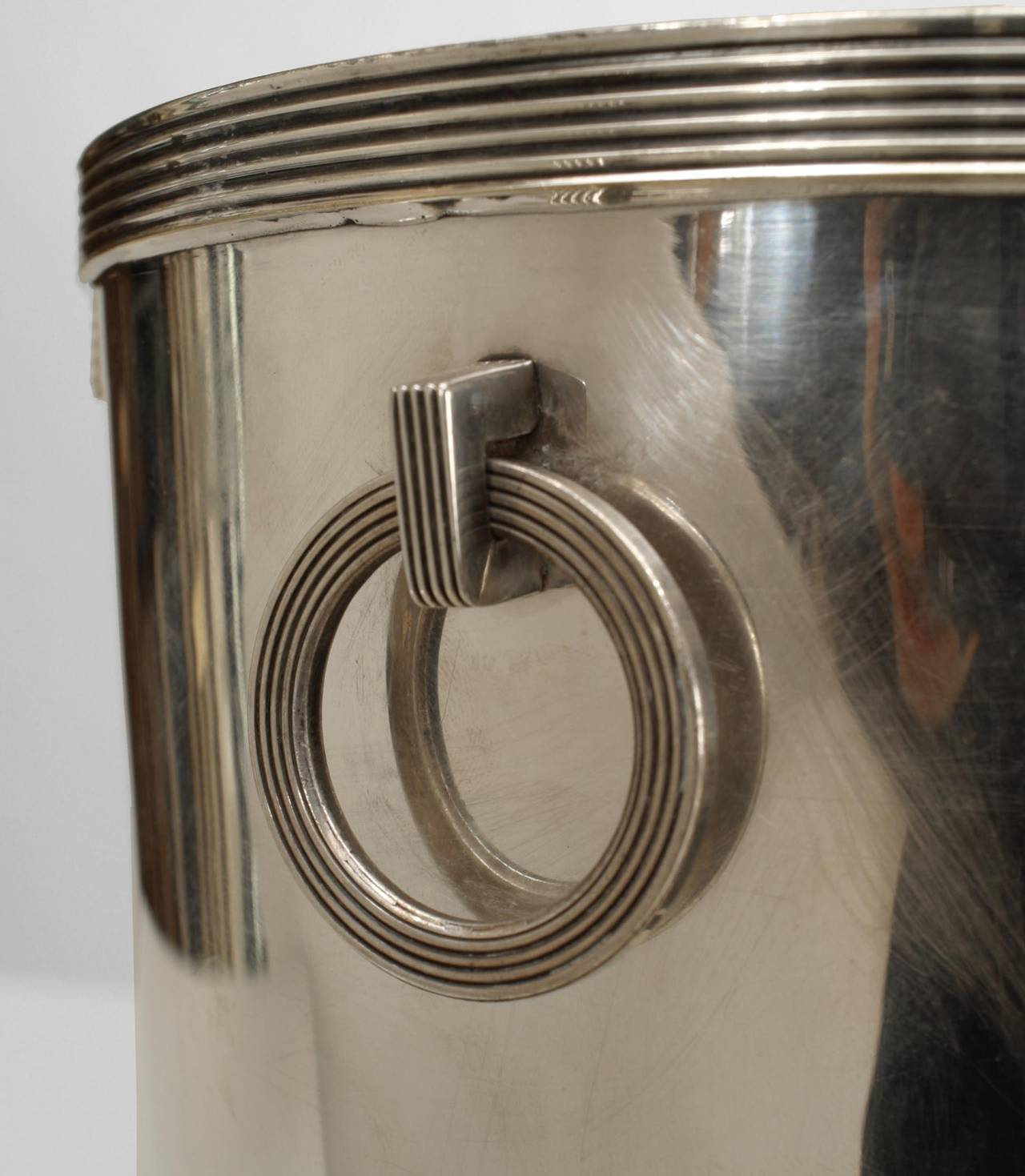 American Art Deco Chrome Champagne Bucket by Rockwell Kent for Chase In Excellent Condition For Sale In New York, NY
