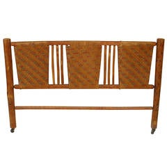 20th c. American Rustic Woven Headboard by the Columbus Hickory Furniture Co.
