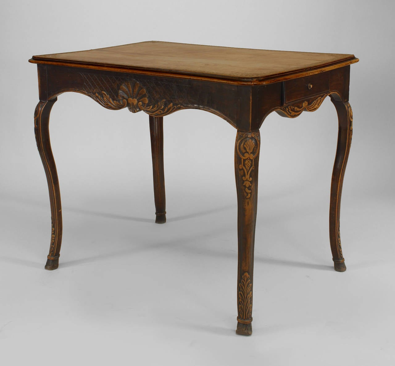 18th Century French Provincial Floral Carved End Table 2