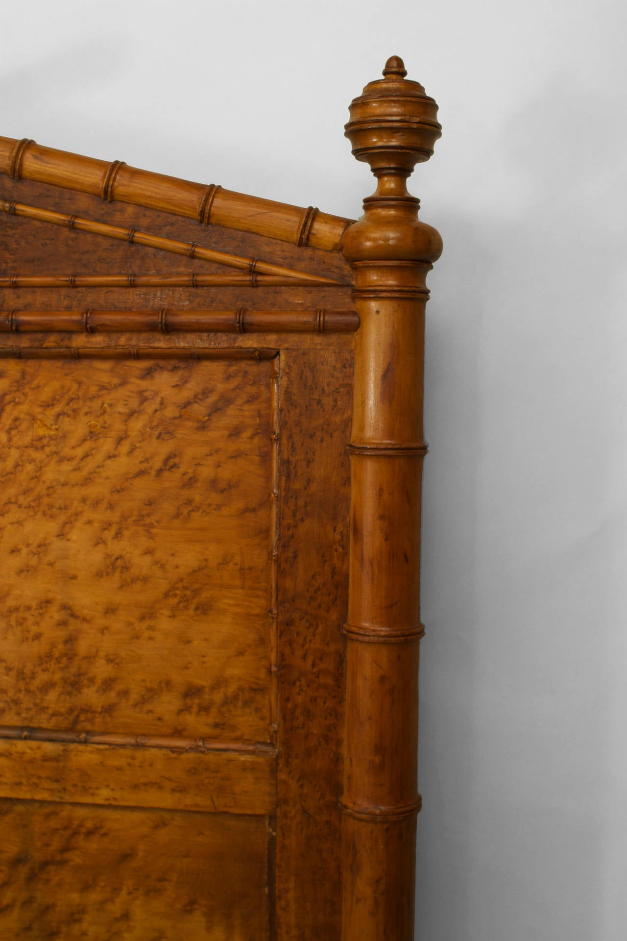 Late 19th Century American Faux Bamboo Queen Size Bed For Sale 2