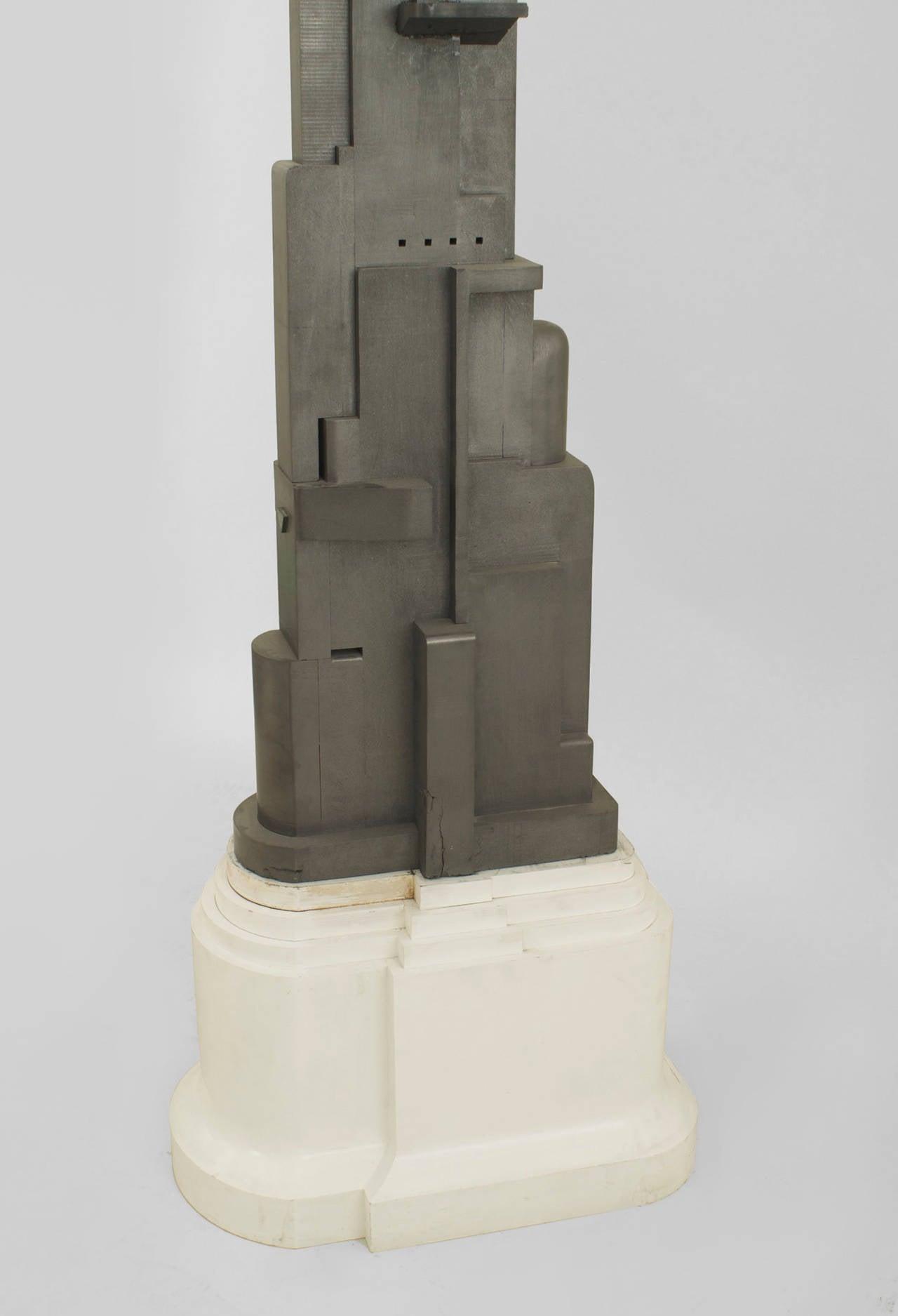 American Art Moderne aluminum model