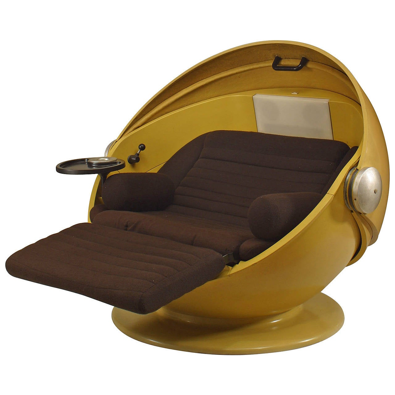 Rare and Unusual 1969 German Futuristic Spherical Chaise by Ris and  Selldorf For Sale
