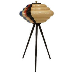 Italian carlo nason murano glass and stainless steel sculptural 1960s italian low multicolored murano glass floor lamp mozeypictures Images