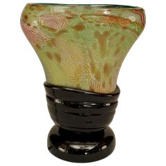 1960s Italian Free-Form Murano Glass Table Lamp Attributed to Nichetto