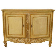 Late 18th or Early 19th Century Italian Gilt-Trimmed Commode