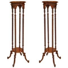 Pair of 19th Century English Swirl Design Pedestals