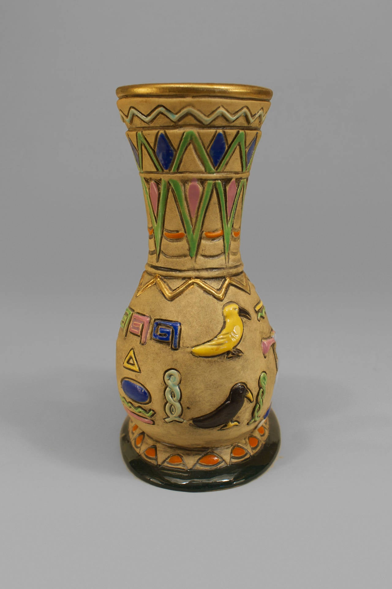 Early Twentieth Century Czech Egyptian Revival Ram Vase For Sale At 1stdibs