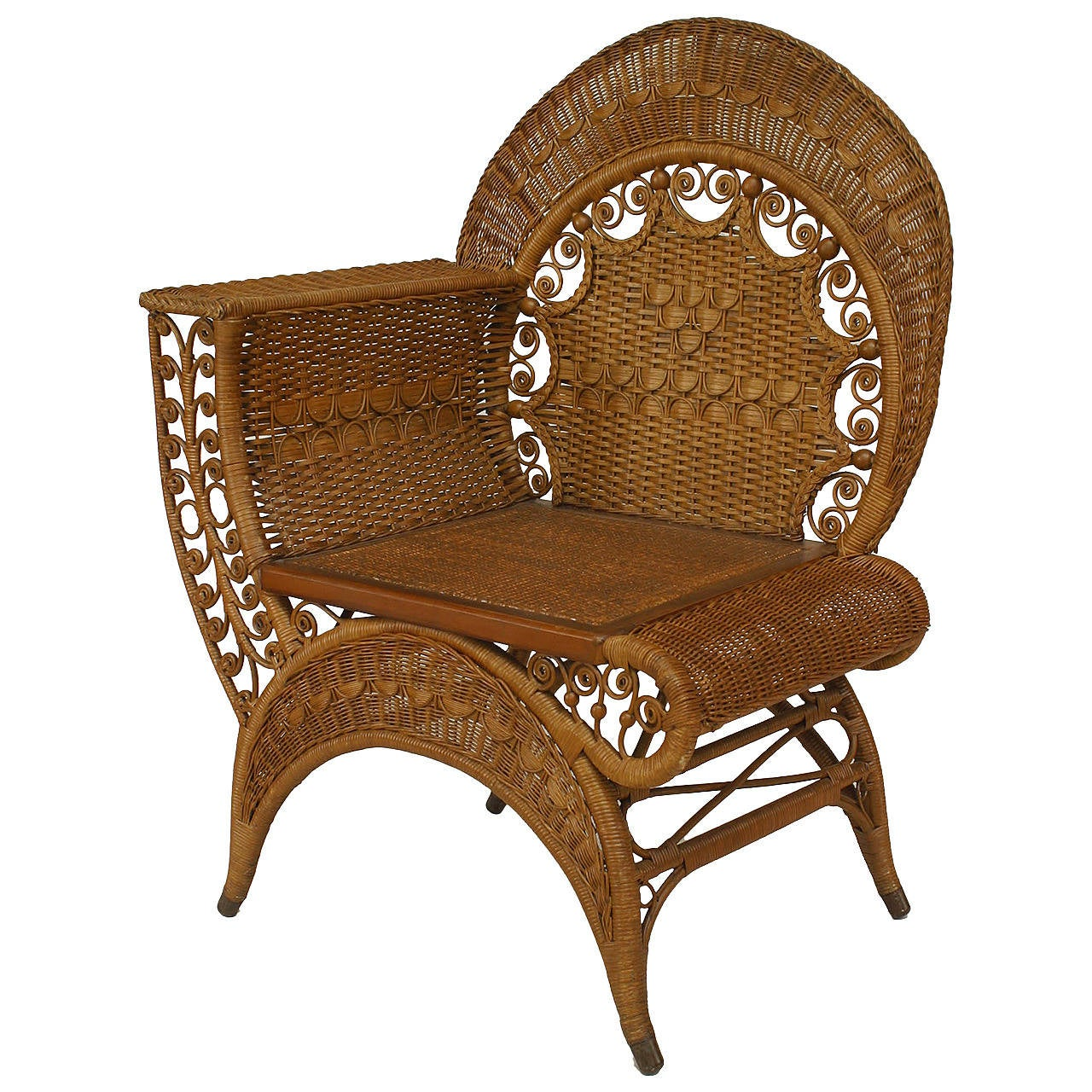 19th century american wicker photographer 39 s chair by for American rattan furniture manufacturer