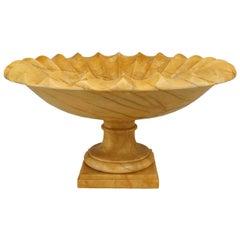 Large Italian Neoclassical Style Siena Marble Tazza