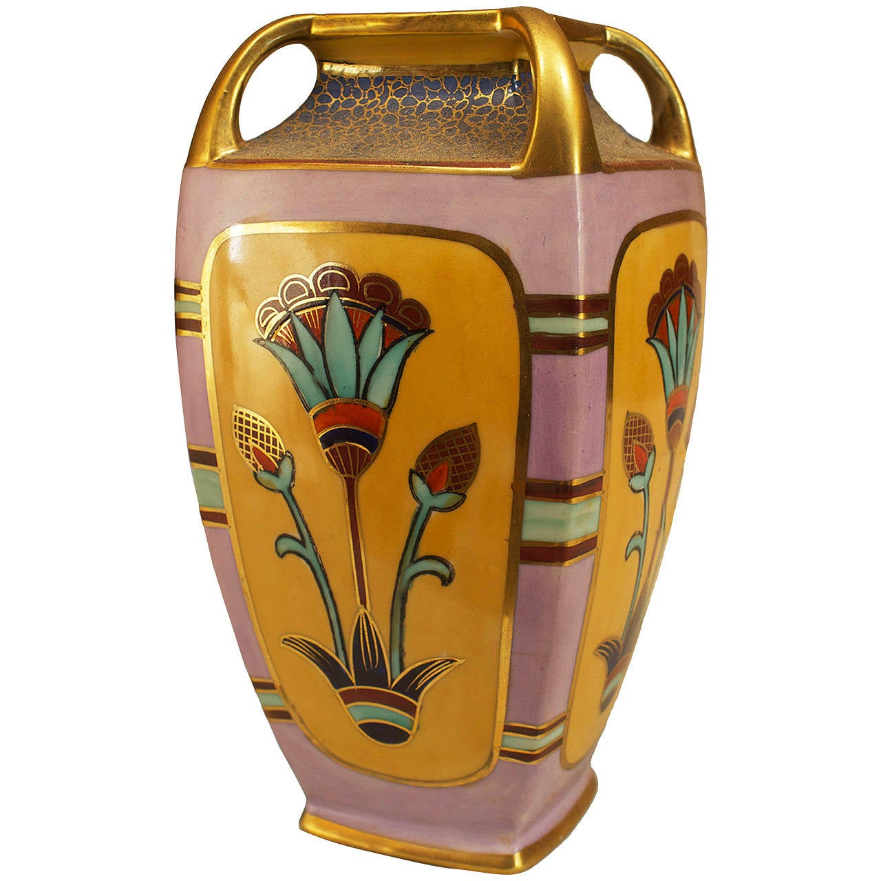 japanese art deco vase by noritake circa 1940s for sale at 1stdibs. Black Bedroom Furniture Sets. Home Design Ideas