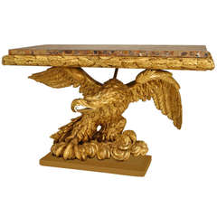 Spectacular French Empire Gilt Carved Eagle Console Late 18th / Early 19th C.