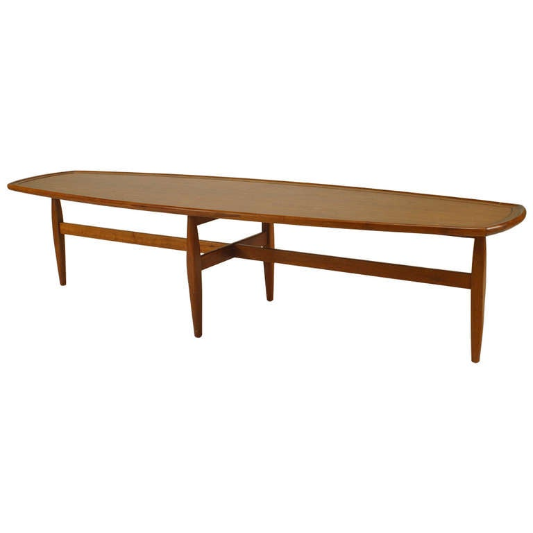 1960 39 s danish narrow coffee table attributed to ib kofod for Narrow cocktail table
