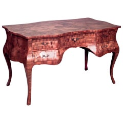 Late 19th c. Italian Rococo Style Bureau Writing Desk