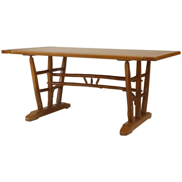 1940 S American Old Hickory Co Dining Table For Sale At