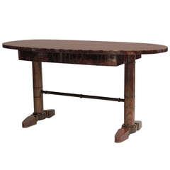 Austrian Biedermeier Oval Table Desk c.1820