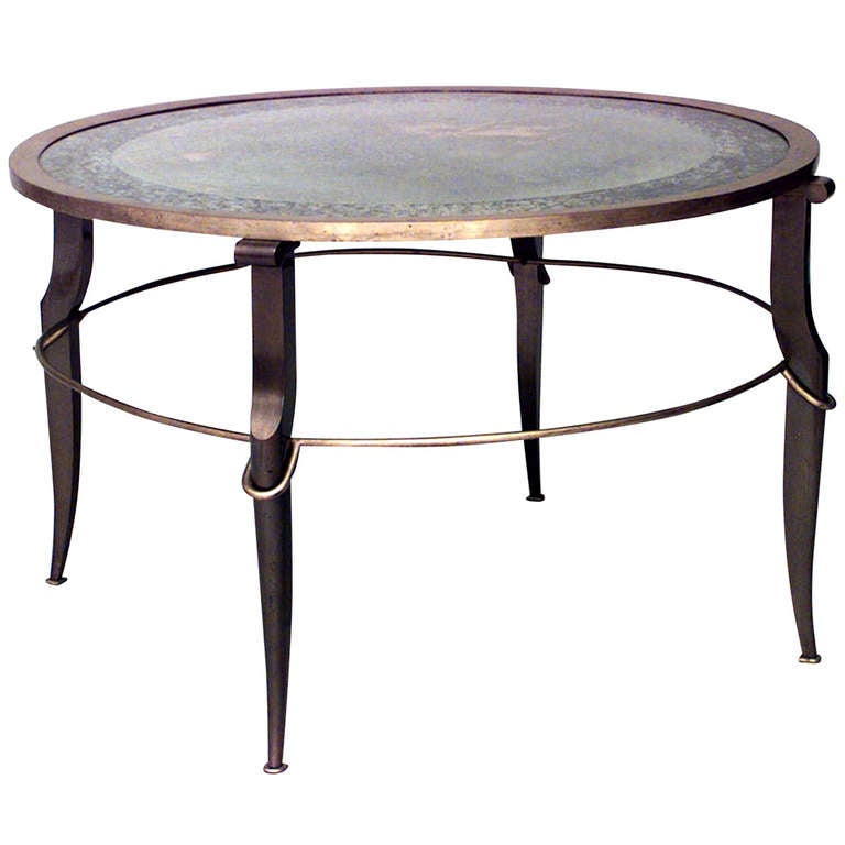 1940's French Mirrored Coffee Table