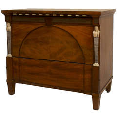 19th c. Russian Neoclassical Mahogany Commode