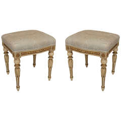 Pair of 19th Century Continental Louis XVI Style Benches