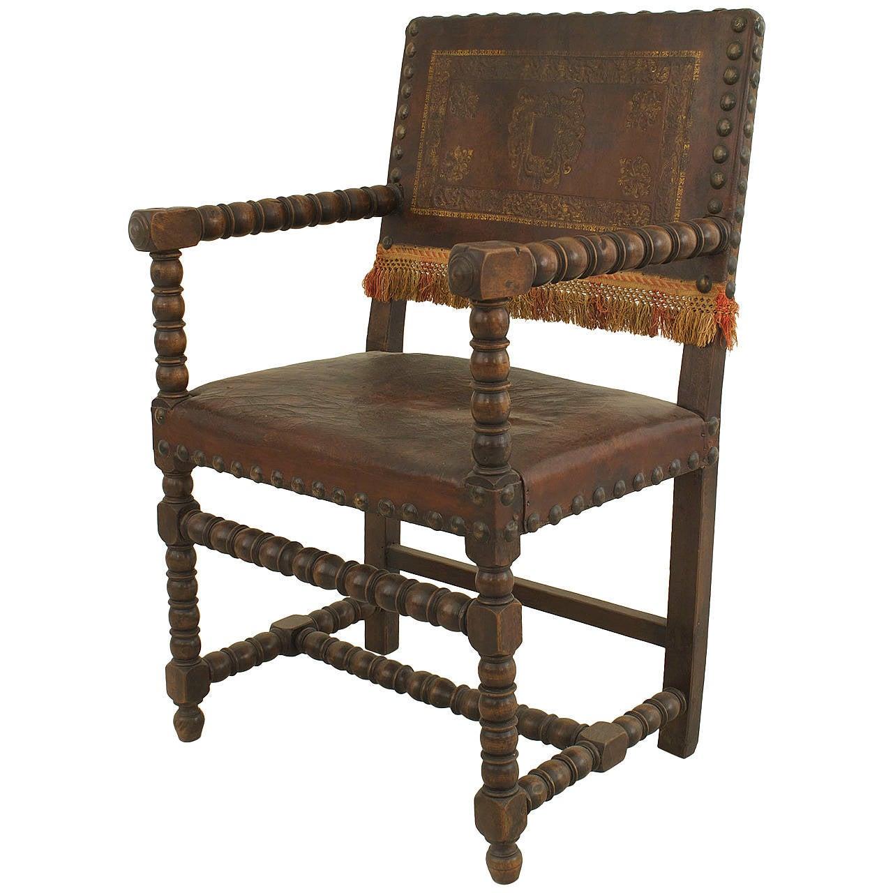 Italian Sofa Brent Cross: Late 18th Century Italian Renaissance Walnut And Leather